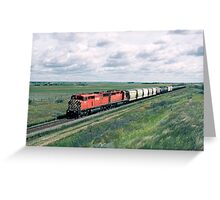 Red Barn on the Prairies Greeting Card