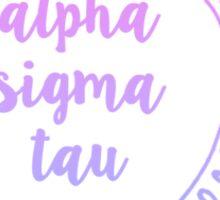 Alpha Sigma Tau Ombre Mandala Sticker