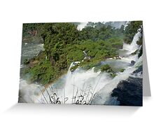 Iguazu Falls Rainbow Greeting Card