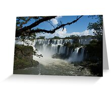 Iguassu Falls Brazil Greeting Card