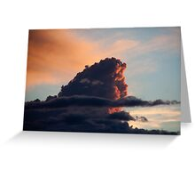 Sunset Cloud Greeting Card