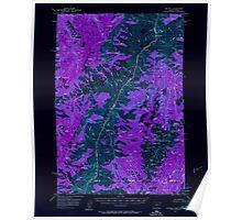 USGS Topo Map Oregon He Devil 282566 1957 62500 Inverted Poster