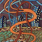 155 - NIGHT RIBBONS - DAVE EDWARDS - WATERCOLOUR - 2006 by BLYTHART