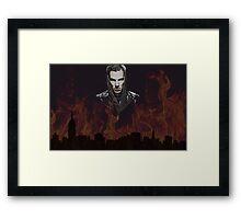 Benedict Cumberbatch - Flames Framed Print