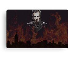 Benedict Cumberbatch - Flames Canvas Print