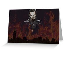 Benedict Cumberbatch - Flames Greeting Card