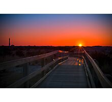 SUNRISE AT THE LIGHTHOUSE Photographic Print