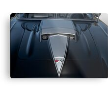 1958 Chevrolet Corvette 'Big Block' Hood Detail Metal Print