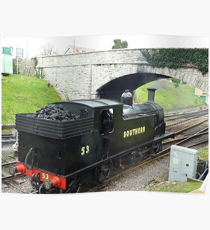 Swanage Railway - Herston Halt  Poster