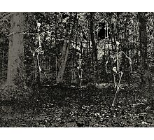 Haunted Forest Skeleton Run Photographic Print