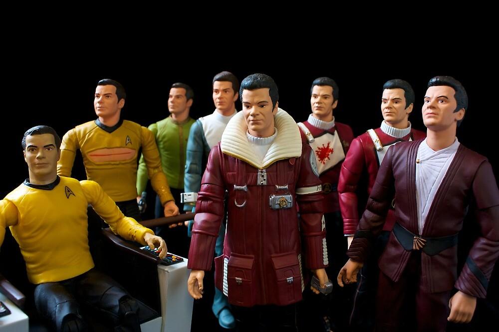 Captains Kirk by Brian Leadingham