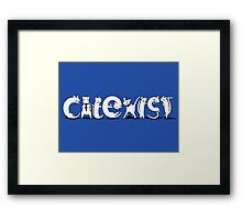 Cat-Exist | Coexist Framed Print