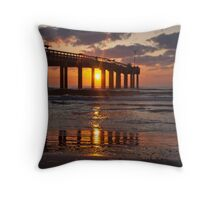Mirrored Shoreline Throw Pillow