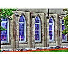 windows of a church in SC Photographic Print