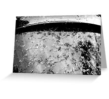 1 hour at dusk - B&W Greeting Card