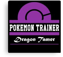 Pokemon Trainer - Dragon Tamer Canvas Print