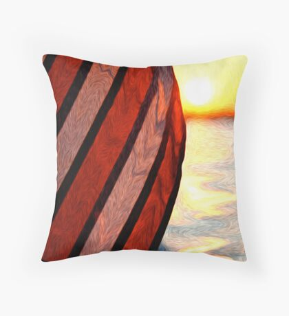 Old Glory (Digital Oil) Throw Pillow
