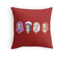 Anime Girls Throw Pillow