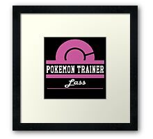 Pokemon Trainer - Lass Framed Print