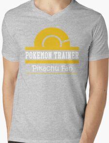 Pokemon Trainer - Pikachu Fan Mens V-Neck T-Shirt