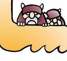 vikings & duckboat Sticker
