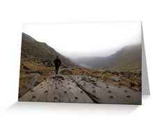Glendalough walking planks Greeting Card