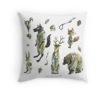 Forest Gentleman Throw Pillow