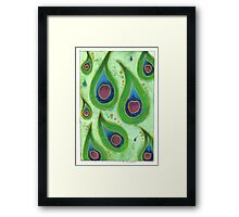 Peacock Feather Pattern Design Framed Print
