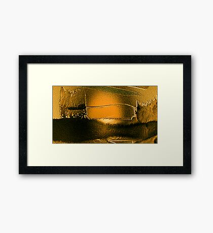 after the deluge so deadly quiet...... silent gold Framed Print