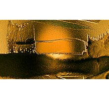 after the deluge so deadly quiet...... silent gold Photographic Print