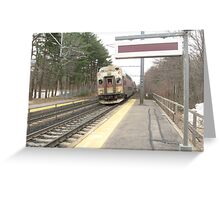 1706 MBTA Commuter Rail (Outbound)  Greeting Card