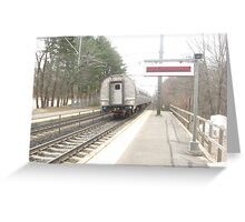 Back of Amtrak Regional Greeting Card