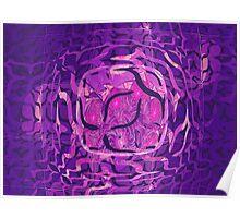 Purple Escher Truchet  Poster