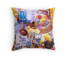 Funky Easter Throw Pillow
