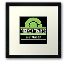 Pokemon Trainer - Sightseer Framed Print