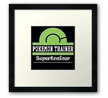 Pokemon Trainer - Supertrainer Framed Print