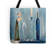 Wine and Candle light Tote Bag