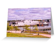 Docked At Ft. Trumbull Greeting Card
