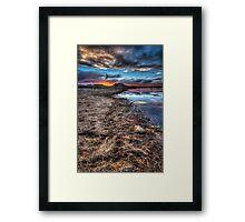 All Along The Shoreline Framed Print