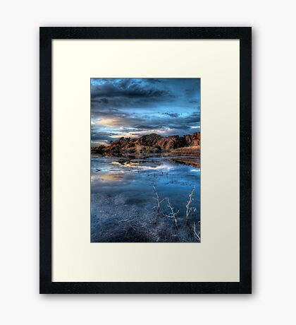Crystal Blue Framed Print