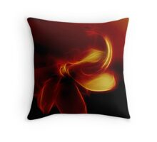 Flame Flower Throw Pillow