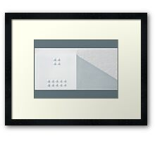 Composition in Squares and Triangles Framed Print