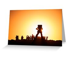 Sculptures by the Sea, Cottesloe, Western  Australia Greeting Card