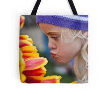 Kissing Tulips Tote Bag