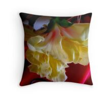 Hybiscus Yellow Fire Throw Pillow