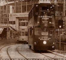 City Tram in Hong Kong by Rene Fuller