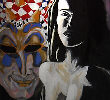 Figure and Mask no.1: Harlequin by Geoff Treagus