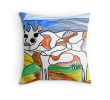 """Holy Cow""! Throw Pillow"