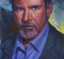 Harrison Ford by garthglaz
