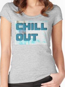 20150917 chill out 1 Women's Fitted Scoop T-Shirt